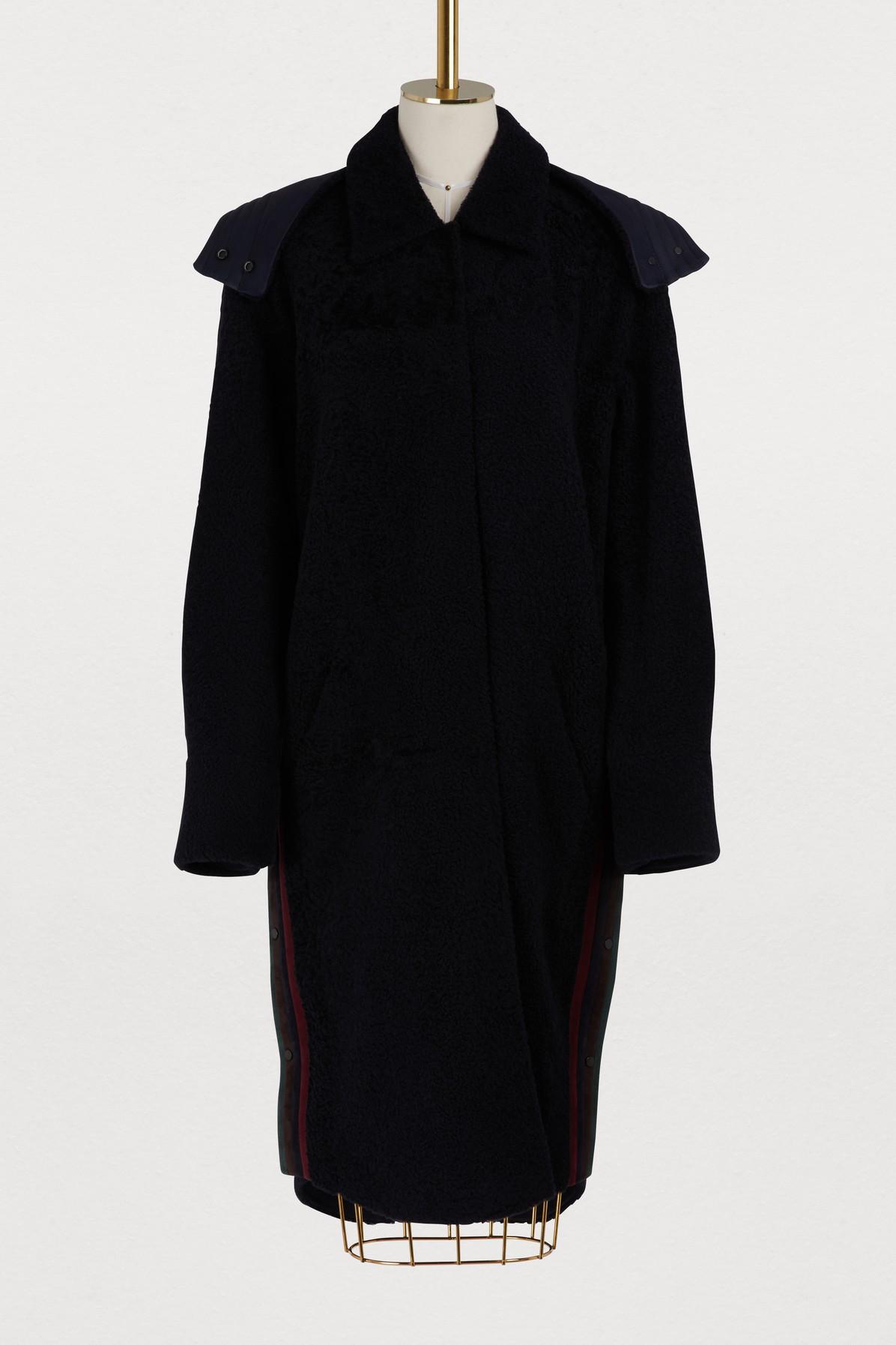 Manteau réversible avec capuche
