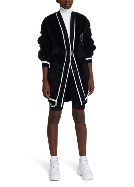OFF-WHITE Cardigan College en fausse fourrure