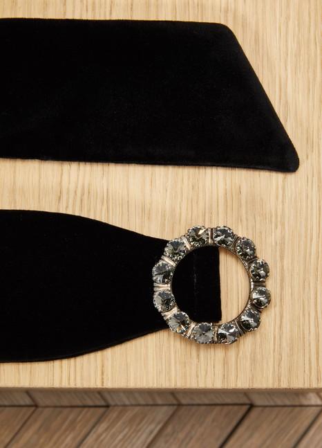 MIU MIUCeinture en cuir orné de bijoux