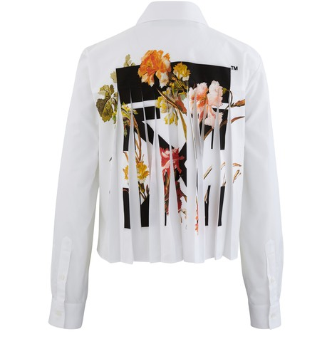 OFF-WHITE Cropped Flowers shirt