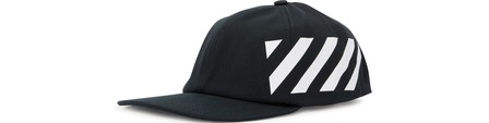 Off-White Diagonal Stripe-Logo Cotton Baseball Cap In Black