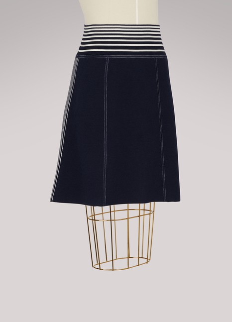 LoeweKnit Skirt with Stripes