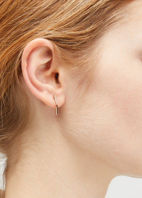 OféeBrindilles 2 module single earring with diamonds