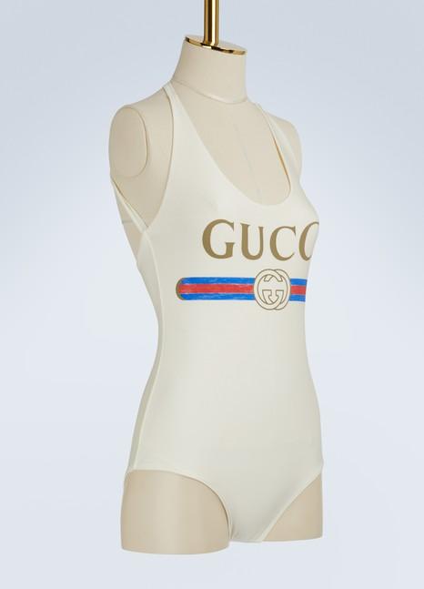 GucciMaillot de bain brillant avec logo Gucci