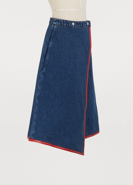 Acne StudiosDenim wrap skirt