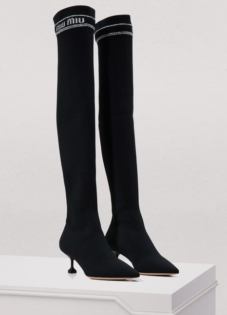 Miu MiuMiu socks Over the knee boots