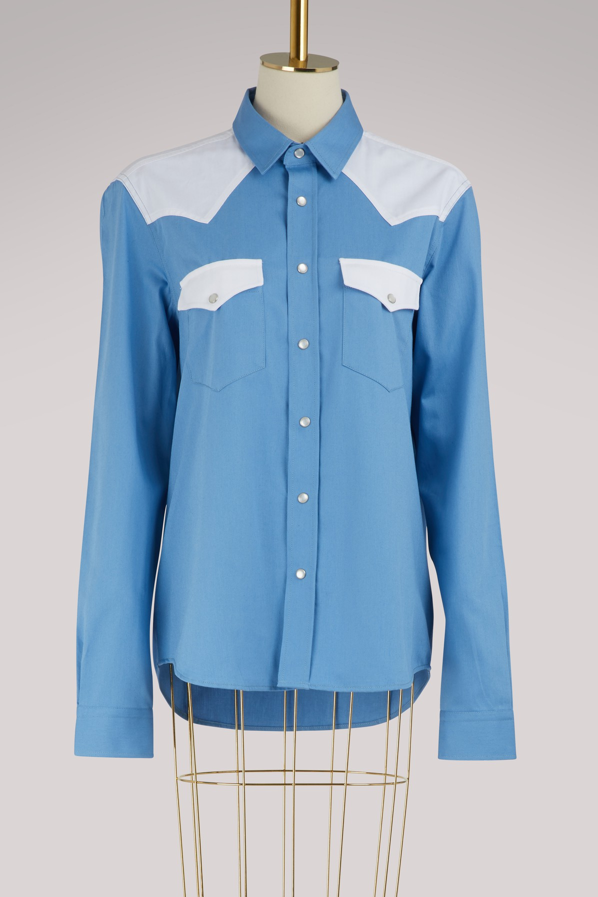 AMI | Shirt with contrasting pockets | Goxip