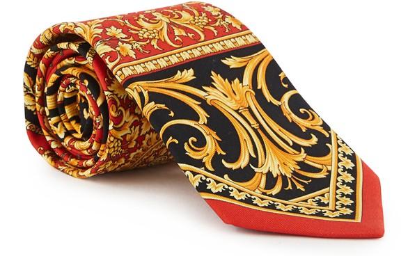 VERSACESilk tie with  Le Pop Classique print