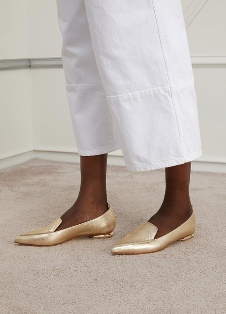 NICHOLAS KIRKWOODBeya Metallic Leather Loafers