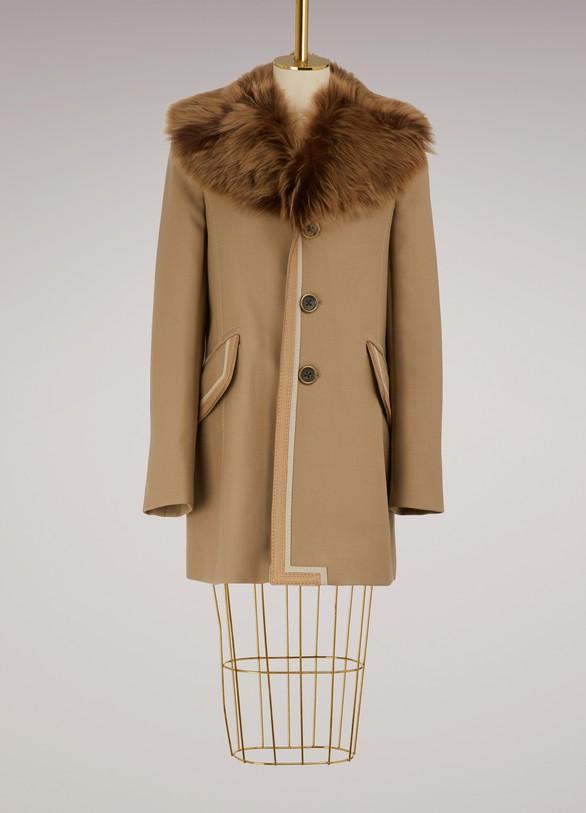 Marc JacobsManteau en laine et fourrure