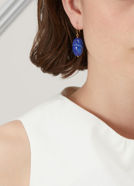 Aurélie Bidermann Lapis lazuli earrings