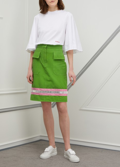 CALVIN KLEIN Short cotton skirt