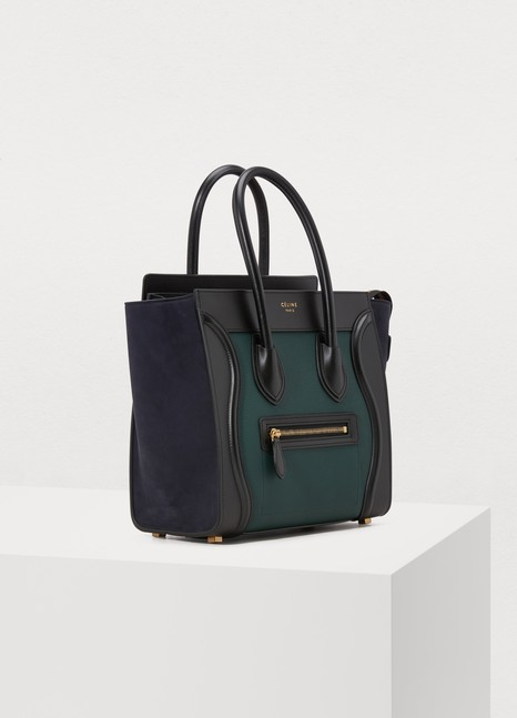 8ebf5cfa94a Women s Micro Luggage handbag in grained calfskin   Celine   24 Sèvres