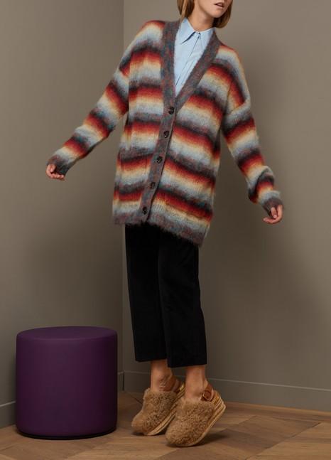 ChloéMohair oversize striped cardigan