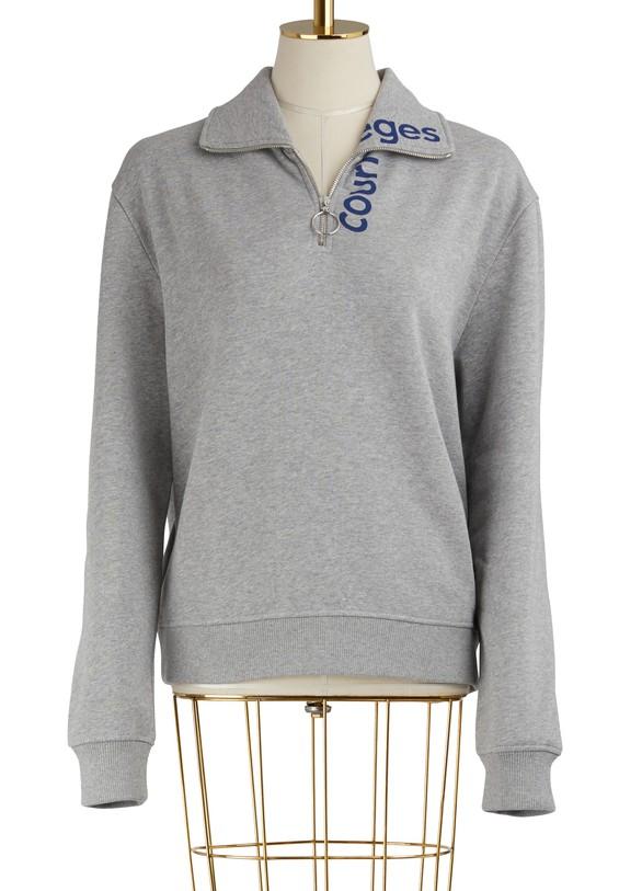 COURREGESZippered Sweater With Logo