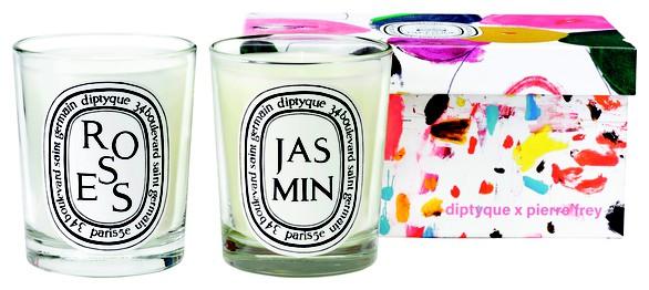 DIPTYQUERoses and Jasmin candle set 2x190g
