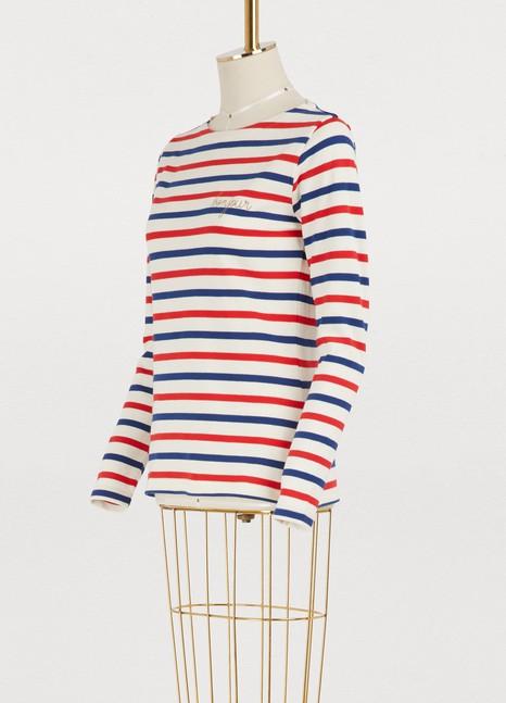 Maison LabicheBonjour striped shirt