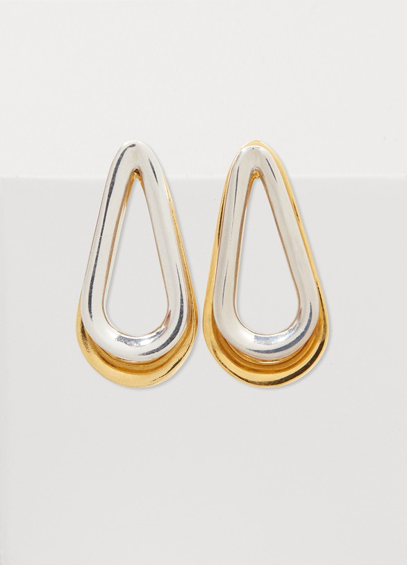Annelise Michelson Boucles d'oreilles bicolores double Ellipse