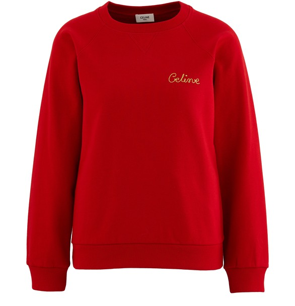 CELINEEmbroidered logo sweatshirt