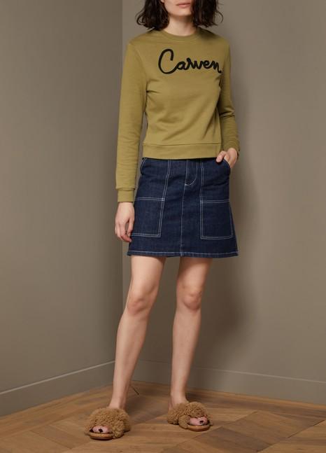 CarvenSweatshirt avec broderie en coton