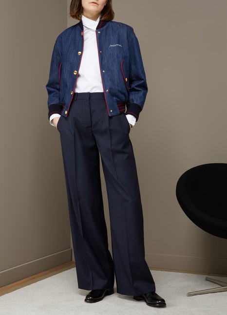 MIU MIUBomber en jean