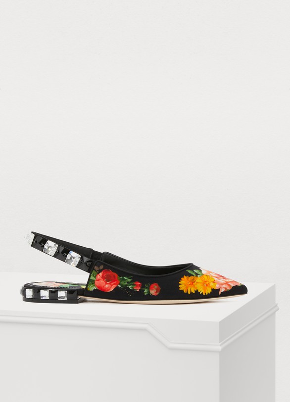Dolce & Gabbana Ballerines Flowers mix