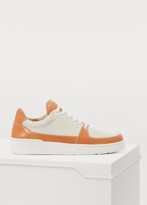 ZESPAVegan leather and suede sneakers