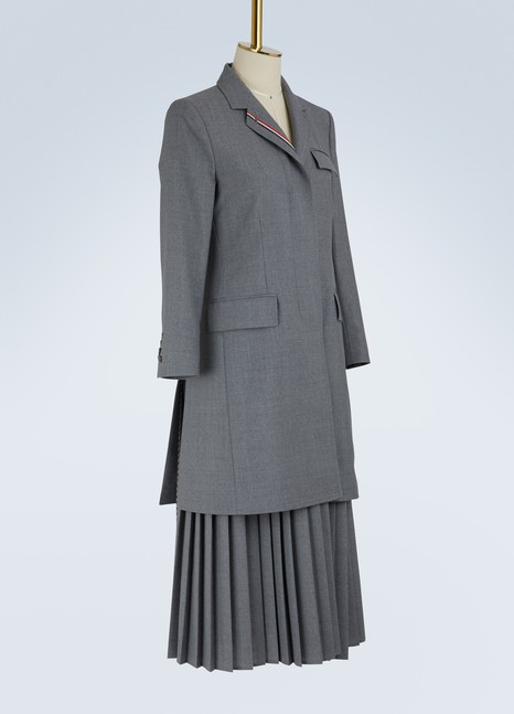 Thom BrowneUniform wool coat