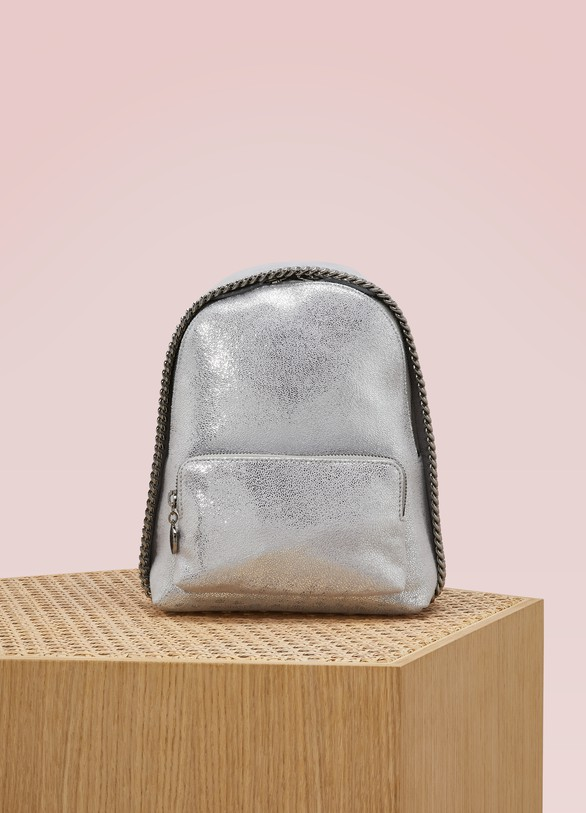 Stella McCartney Mini sac à dos Falabella brillant