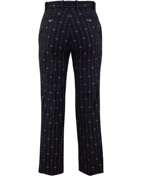 GUCCI GG wool striped trousers