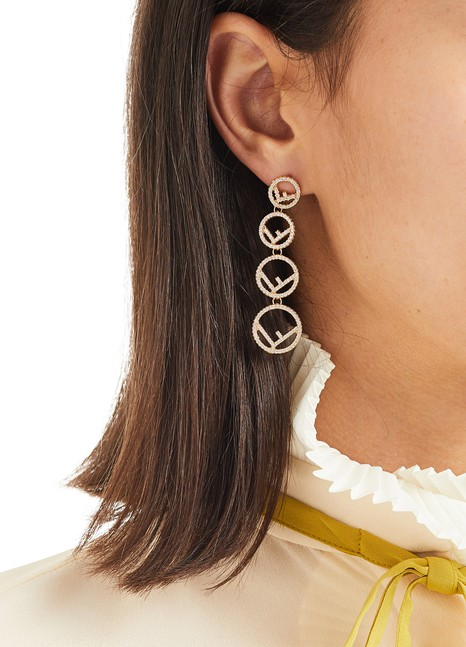 FENDIBoucles d'oreilles Logo