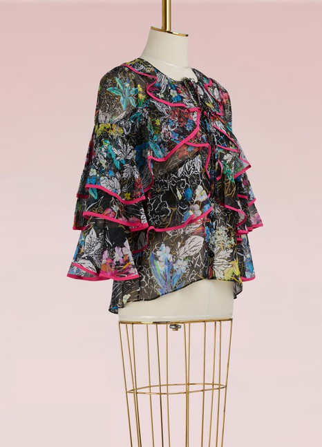 PETER PILOTTO Blouse en soie Georgette