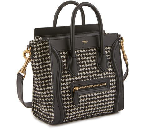 Nano Luggage Bag In Tweed And Smooth Calfskin