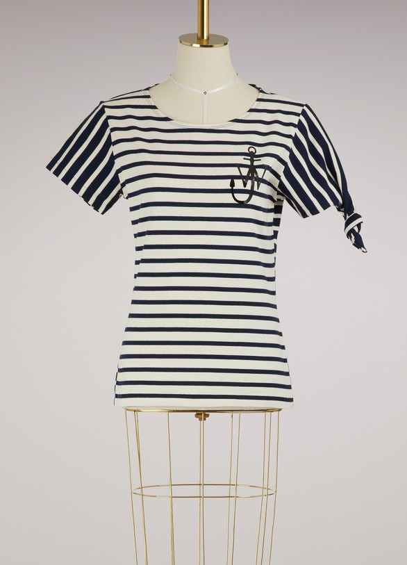 JW Anderson Striped knot T-shirt