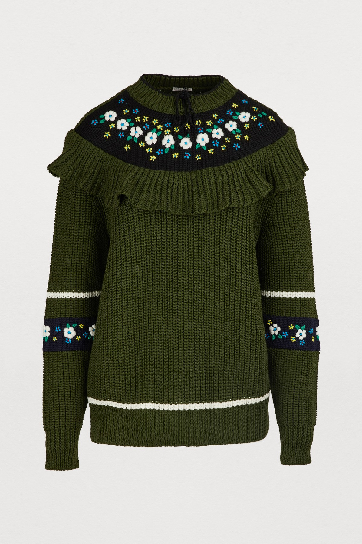 51869f061a56 Shop Miu Miu Jumpers and Cardigans on sale at the Marie Claire Edit