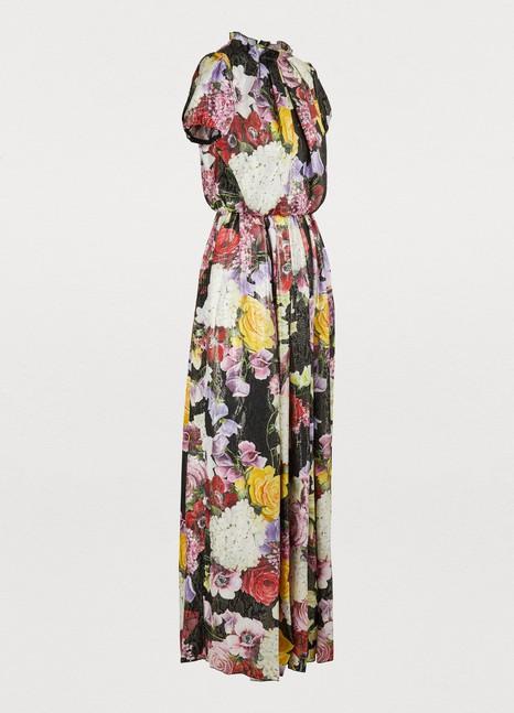 Dolce & GabbanaHydrangea lurex dress