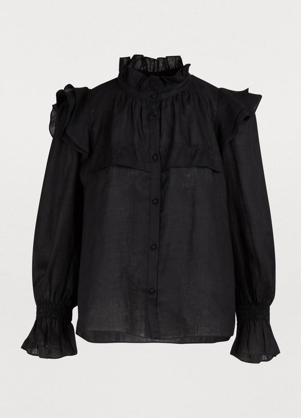 Women s Tedy linen blouse  52f395475b9
