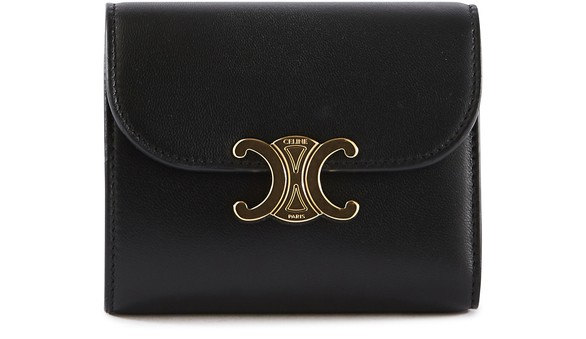 CELINESmall Flap Triomphe purse in lamb leather
