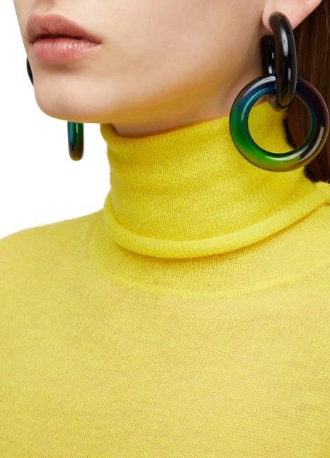 """MARC JACOBS""""The Plastic"""" hoop earrings"""