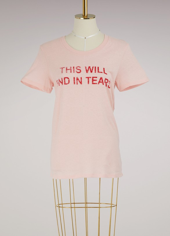 "Zoe Karssen T-shirt ""This will end in tears"""
