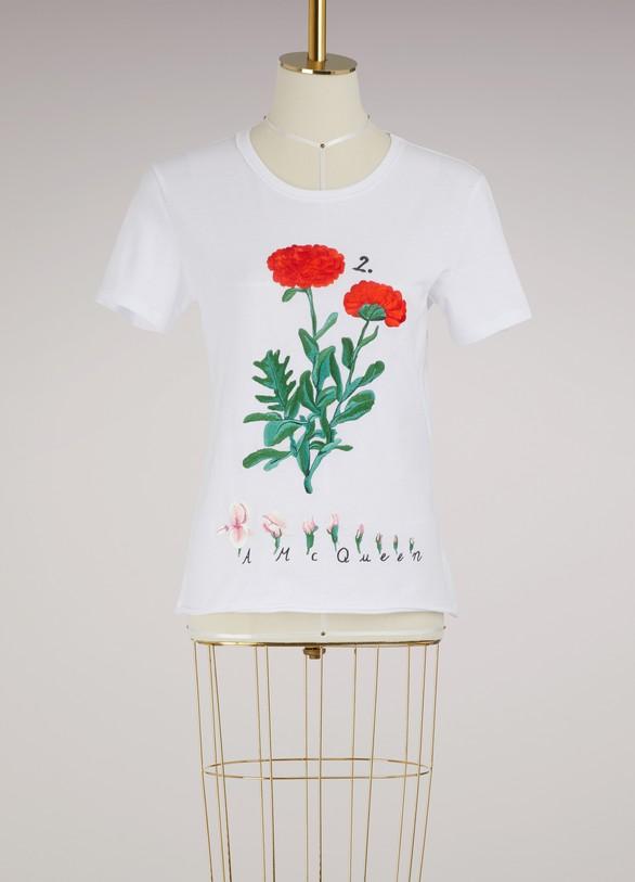 Alexander McQueenT-shirt brodé Botanical