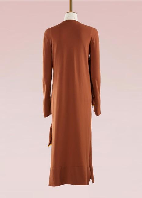 MarniKnit Midi Dress with Ruffles