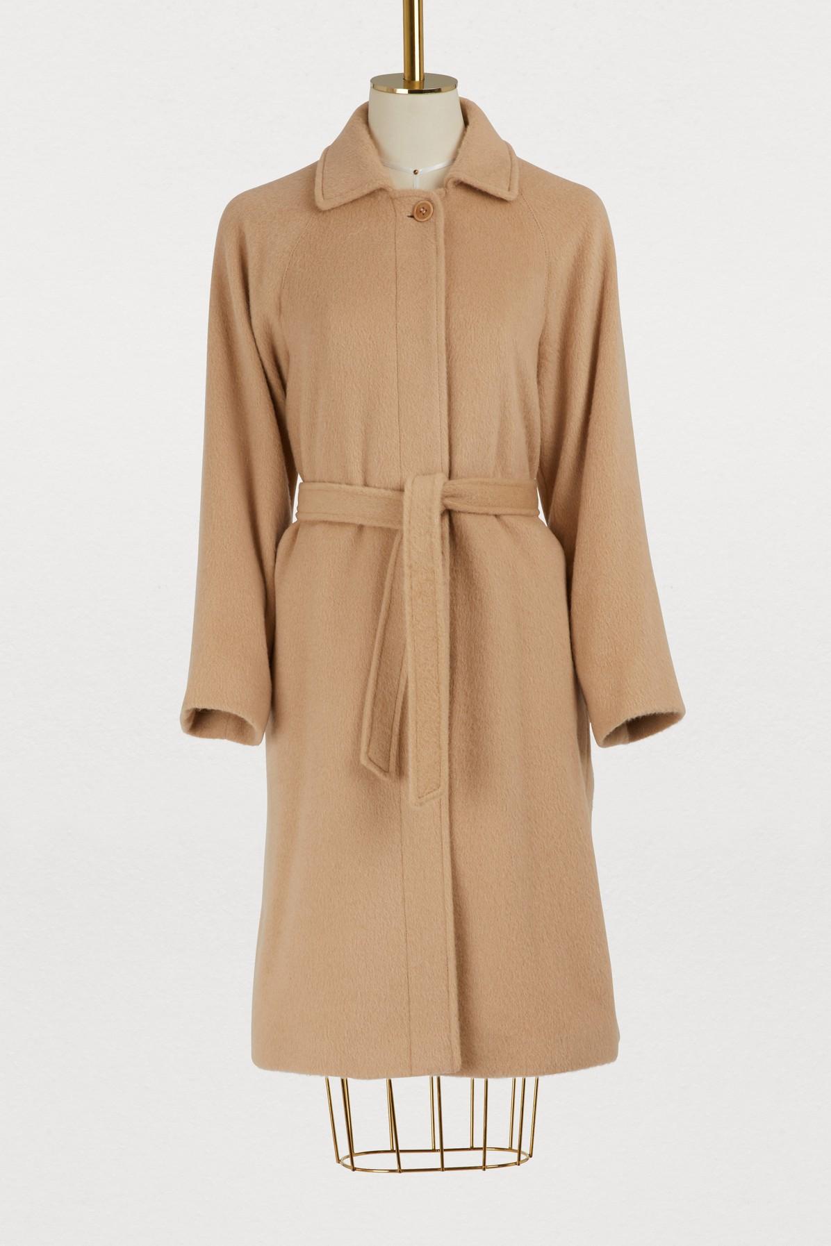 Manteau en mohair avec ceinture