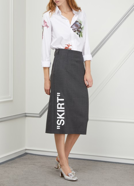 Off White Wool pencil skirt