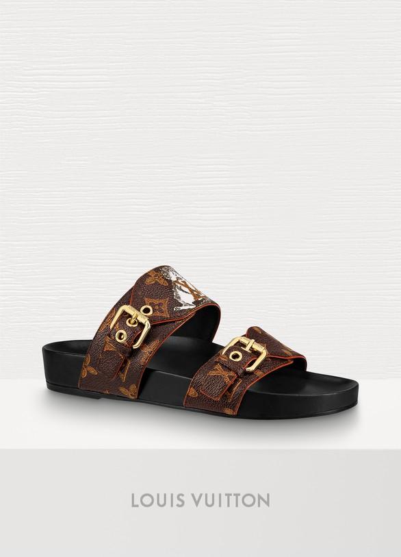 fa5ef0943d54 Louis Vuitton Bom Dia Flat Mule