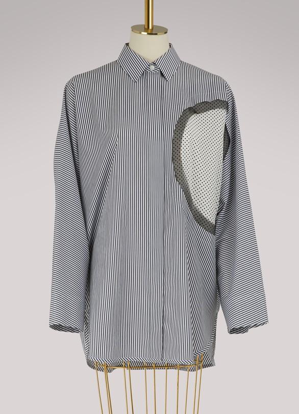 Maison MargielaOversized striped shirt