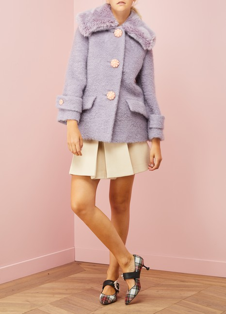 Miu MiuBouclé Mohair Short Jacket