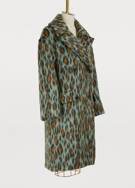 KenzoMohair Leopard coat