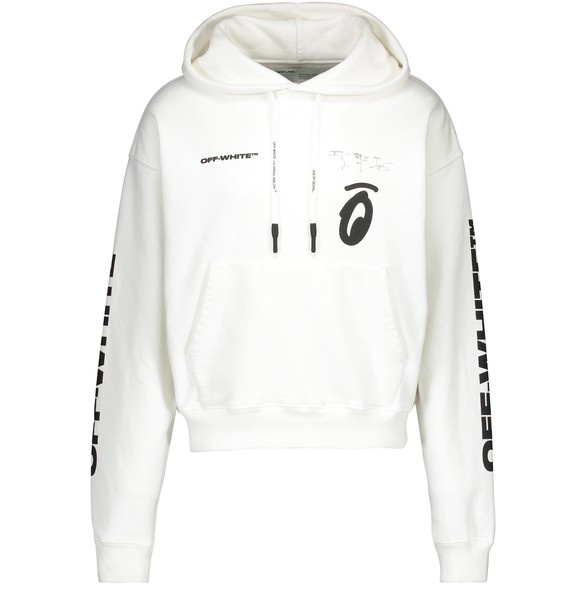 OFF-WHITESplitted Arrows Over Hoodie