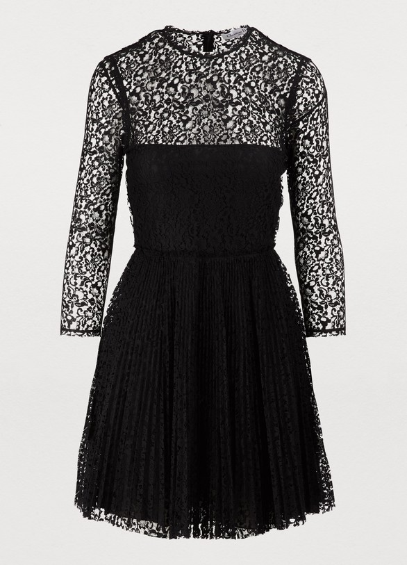 a9c8d52f167b Robe courte plissée en dentelle de coton femme   Dior   24 Sèvres